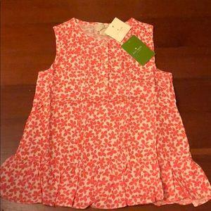 Brand New Kate Spade Pink flower 🌸 top